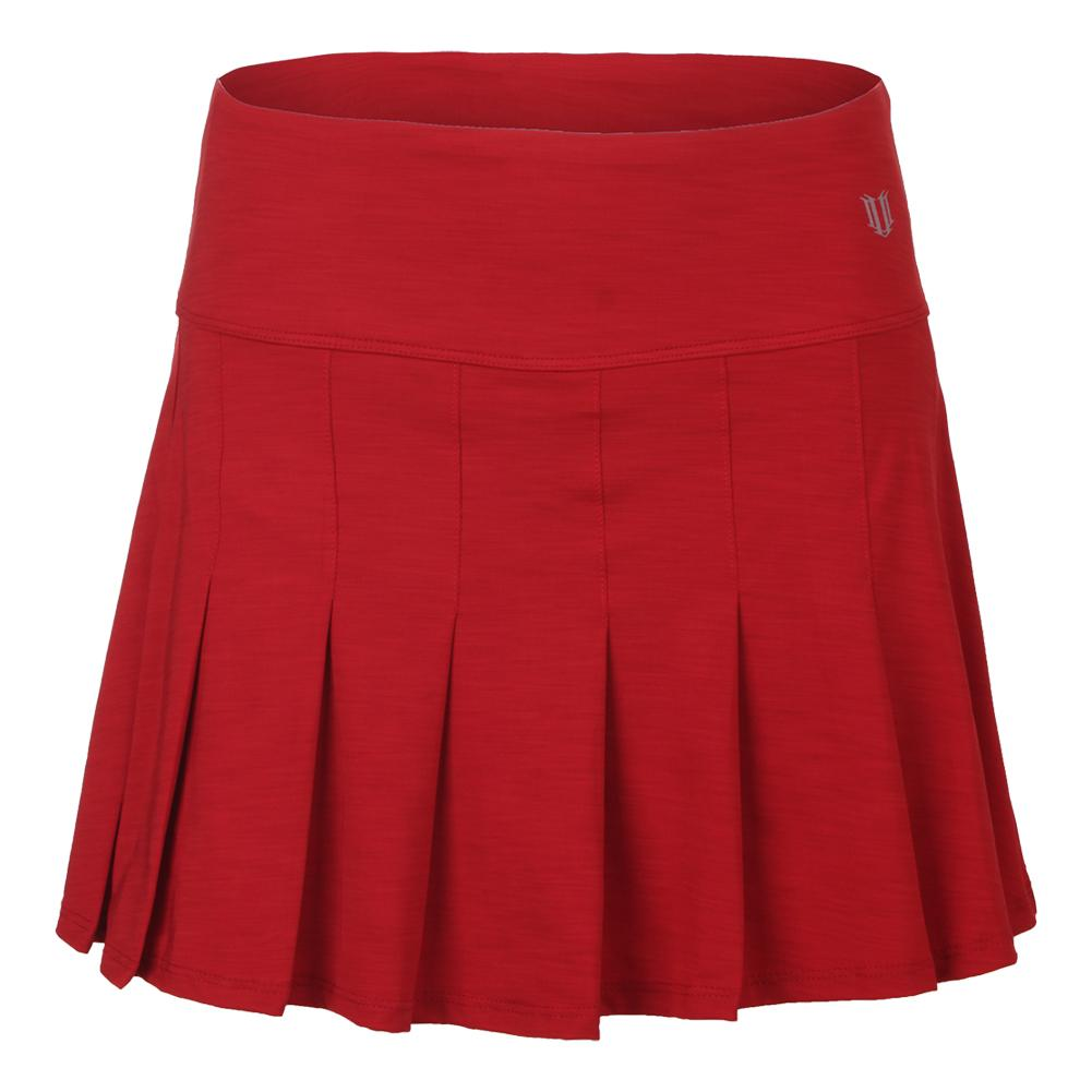 Women's Flutter 14 Inch Tennis Skort Tango Red