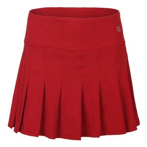 Women`s Flutter 14 Inch Tennis Skort Tango Red