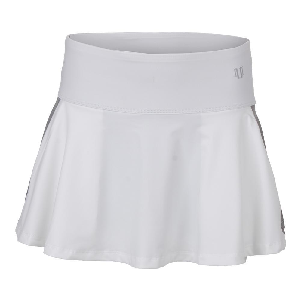 Women's Shimmer 13 Inch Tennis Skort White