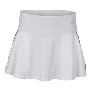 Women`s Shimmer 13 Inch Tennis Skort White