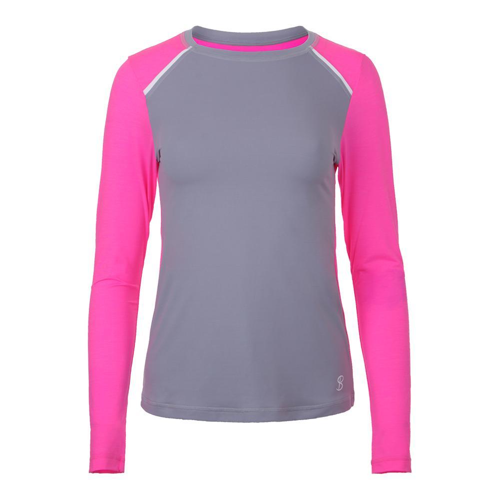 Women's Strength Long Sleeve Tennis Top Gray