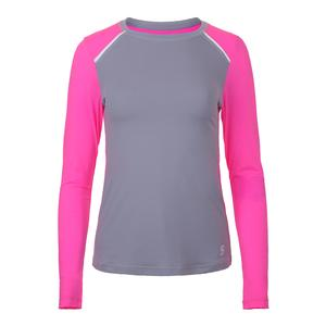 Women`s Strength Long Sleeve Tennis Top Gray
