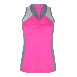 Women`s Sport Tennis Tank Melange Pink