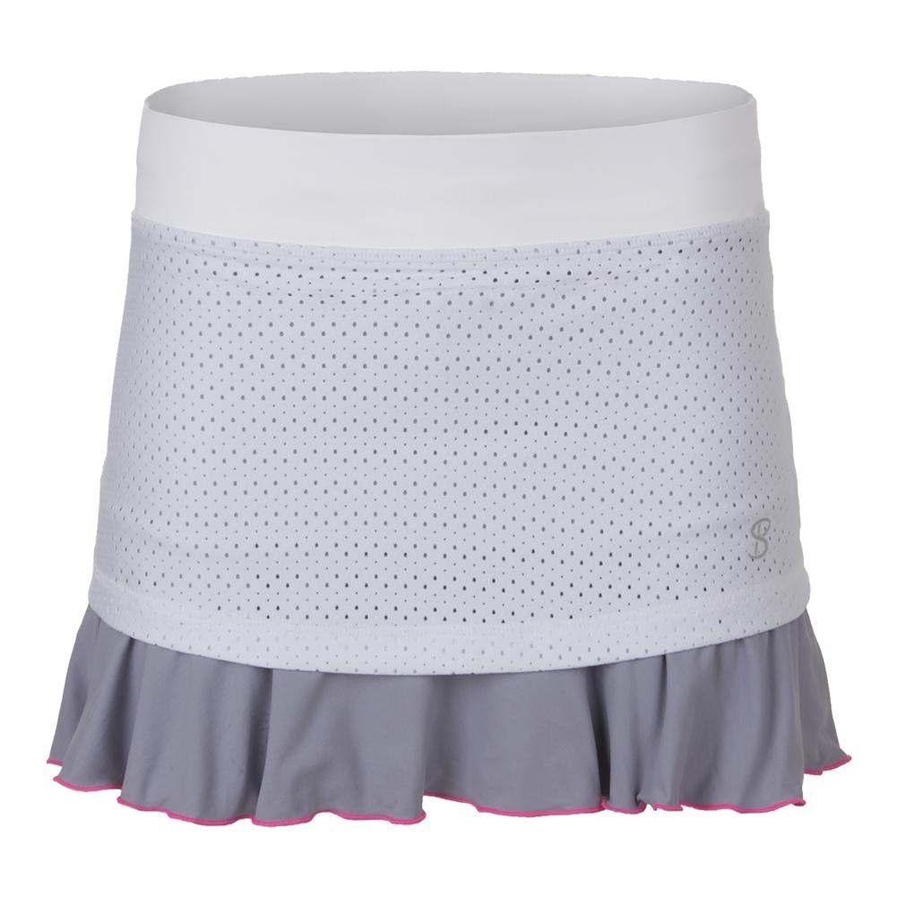 Women's Love 14 Inch Tennis Skort White
