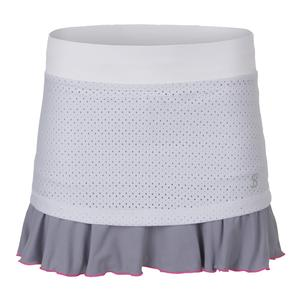 Women`s Love 14 Inch Tennis Skort White