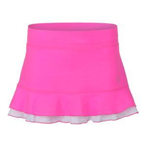 Women`s Backspin 12 Inch Tennis Skort Melange Pink