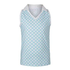 Girls` V-Neck Sleeveless Tennis Polo Pattern
