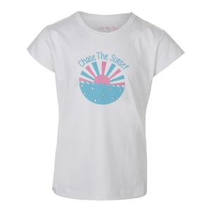 Girls` Sunset Graphic Tennis Tee White