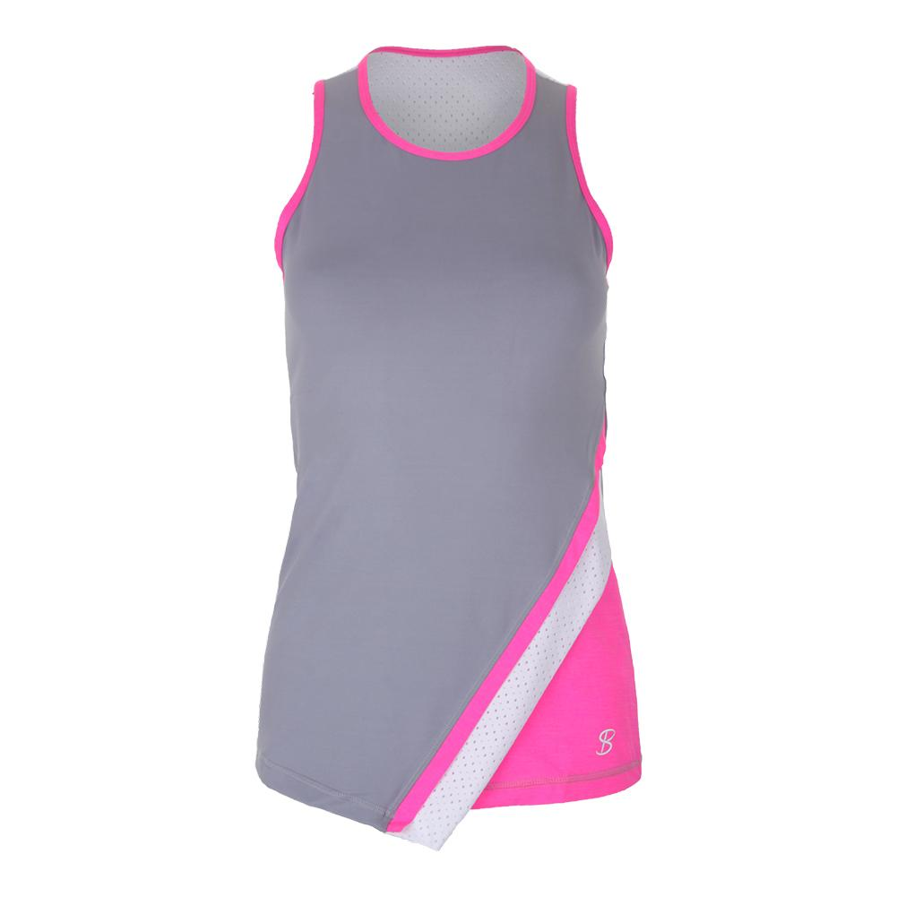 Women's Asymmetrical Tennis Tank Gray