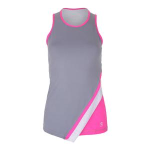 Women`s Asymmetrical Tennis Tank Gray