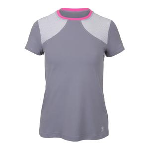 Women`s Dropshot Short Sleeve Tennis Top Gray