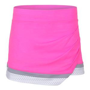 Women`s Ace 13 Inch Tennis Skort Melange Pink