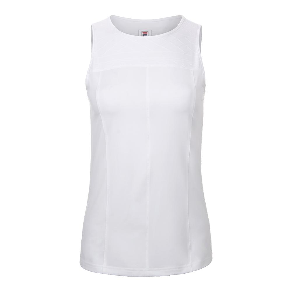 Women's Lawn Full Coverage Tennis Tank White