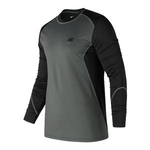 Men`s Long Sleeve Cold Crew Black and Grey
