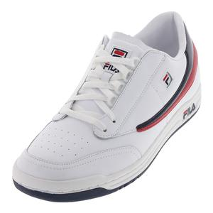 Men`s Original Tennis Shoes White and Navy