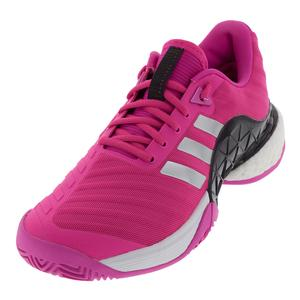 Men`s Barricade 2018 Boost Tennis Shoes Shock Pink and Matte Silver