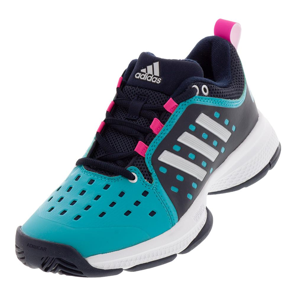 c44dacbeaffdb4 ADIDAS ADIDAS Women s Barricade Classic Bounce Tennis Shoes Legend Ink And  Matte Silver