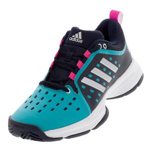 6d030c454 SALE Women`s Barricade Classic Bounce Tennis Shoes Legend Ink and Matte Silver  Adidas ...