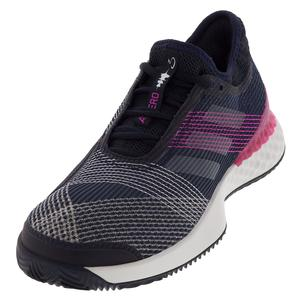 Men`s Adizero Ubersonic 3 Clay Tennis Shoes Legend Ink and White