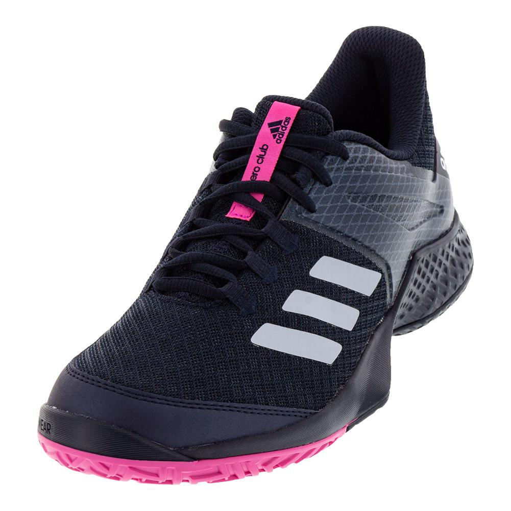Juniors ` Adizero Club 2 Tennis Shoes Legend Ink And White