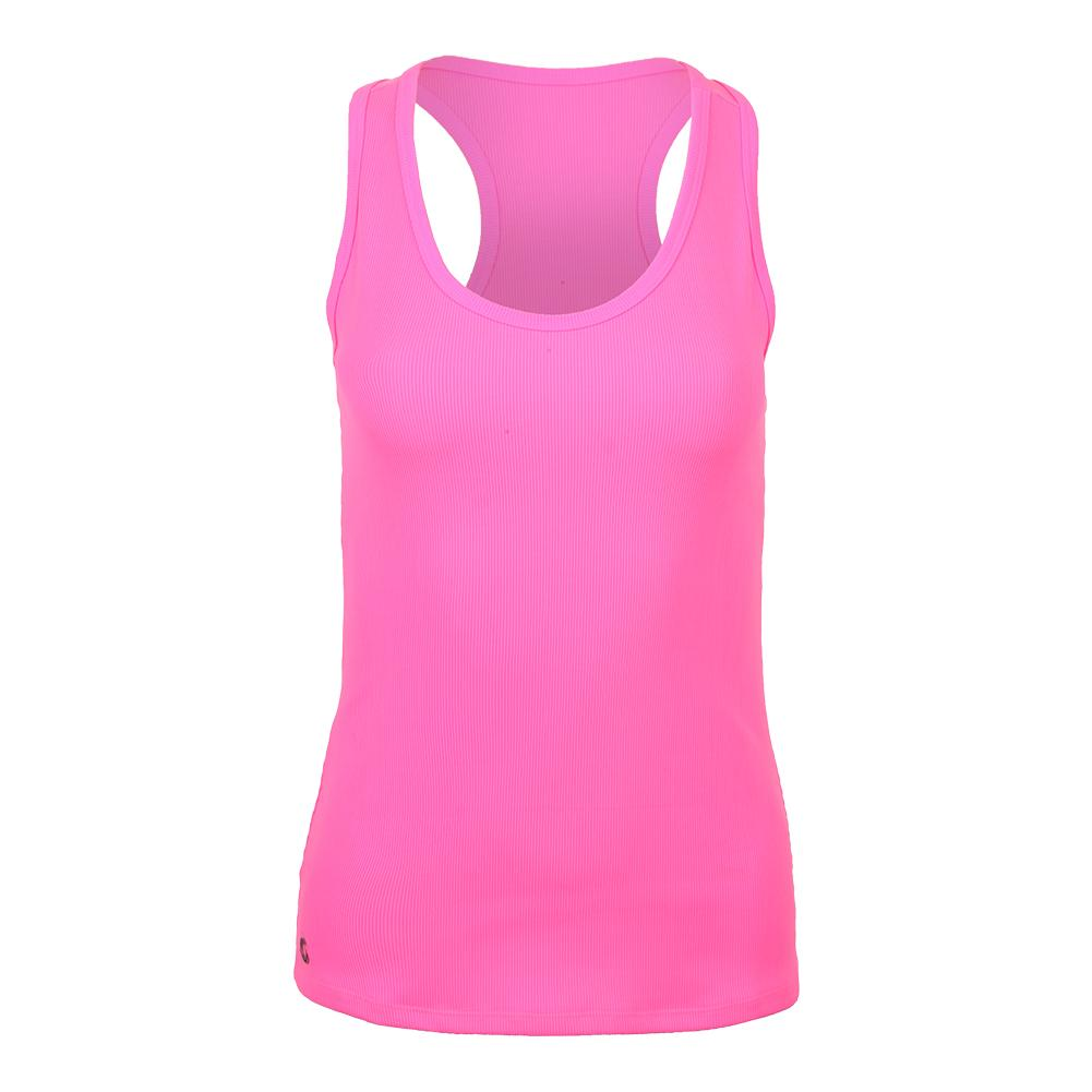 Women's Perf Tennis Tank Hot Pink