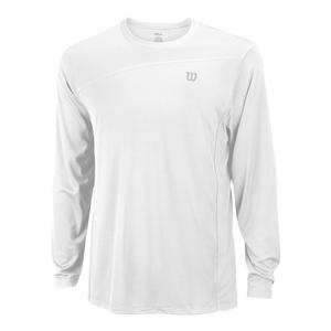 Men`s Rush Colorblock Long Sleeve Tennis Crew White
