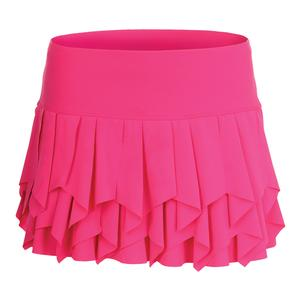 Women`s Laser Sashay Tennis Skort Shocking Pink