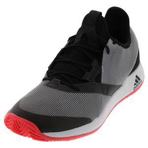 Men`s Adizero Defiant Bounce Tennis Shoes Black and White