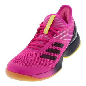 Women`s Adizero Ubersonic 3 Tennis Shoes Shock Pink and Legend Ink