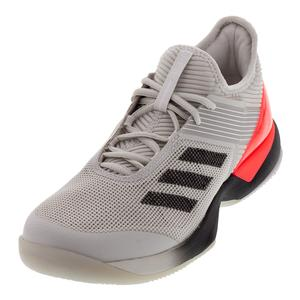 Women`s Adizero Ubersonic 3 Tennis Shoes Gray One and Black