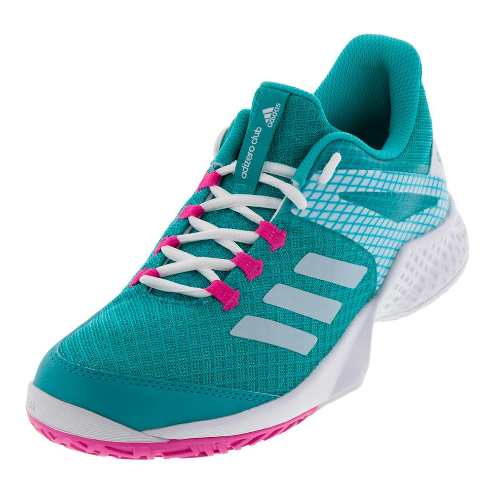 Women's Adizero Club 2 Tennis Shoes Hi- Res Aqua And White