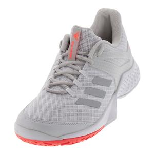 Women`s Adizero Club 2 Tennis Shoes White and Matte Silver