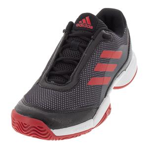 Juniors` Barricade Club Tennis Shoes Black and Scarlet