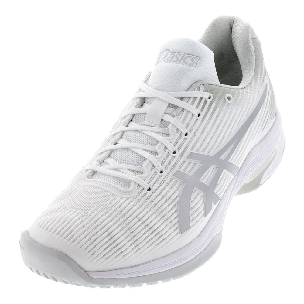 Men's Solution Speed Ff Tennis Shoes White And Silver