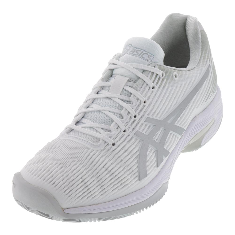 Men's Solution Speed Ff Clay Tennis Shoes White And Silver