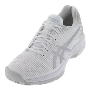 Men`s Solution Speed FF Clay Tennis Shoes White and Silver