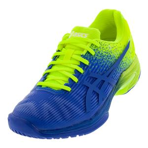 Men`s Solution Speed FF LE Tennis Shoes Imperial and Flash Yellow
