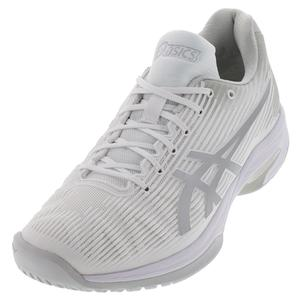 Women`s Solution Speed FF Tennis Shoes White and Silver