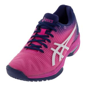 Women`s Solution Speed FF Tennis Shoes Pink Glow and White