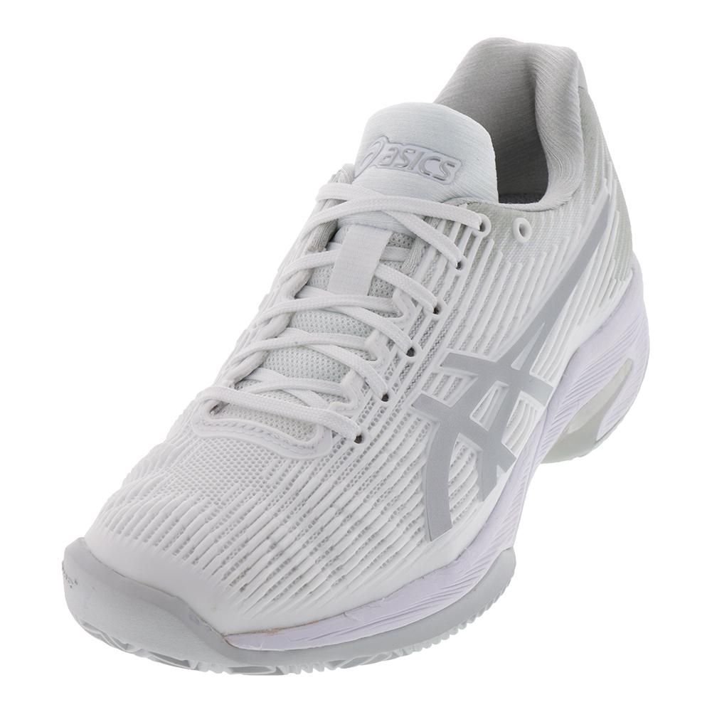 Women's Solution Speed Ff Clay Tennis Shoes White And Silver