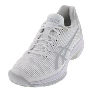 Women`s Solution Speed FF Clay Tennis Shoes White and Silver