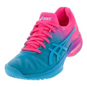 Women`s Solution Speed FF Tennis Shoes Aquarium and Hot Pink