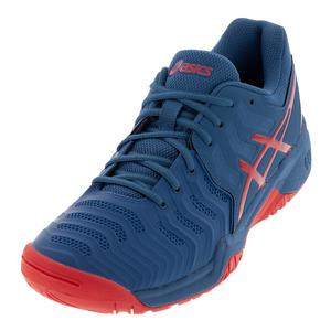 Juniors` Gel-Resolution 7 Tennis Shoes Azure and Red Alert