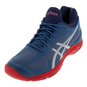 Unisex Court FF Tennis Shoes Azure and Silver