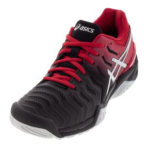 Men`s Gel-Resolution 7 Tennis Shoes Black and Silver