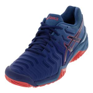 Men`s Gel-Resolution 7 Tennis Shoes Blue Print