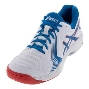 Men`s Gel-Game 6 Tennis Shoes White Race Blue