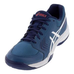 Men`s Gel-Dedicate 5 Tennis Shoes Azure and White