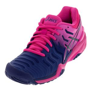 Women`s Gel-Resolution 7 Tennis Shoes Blue Print