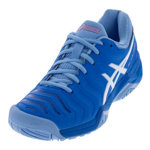 Women`s Gel-Challenger 11 Tennis Shoes Electric Blue and White
